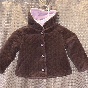 Soft Brown and Pink Gymboree Coat Size 3T
